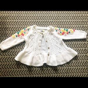 OshKosh B'Gosh white sweater Infant Girl